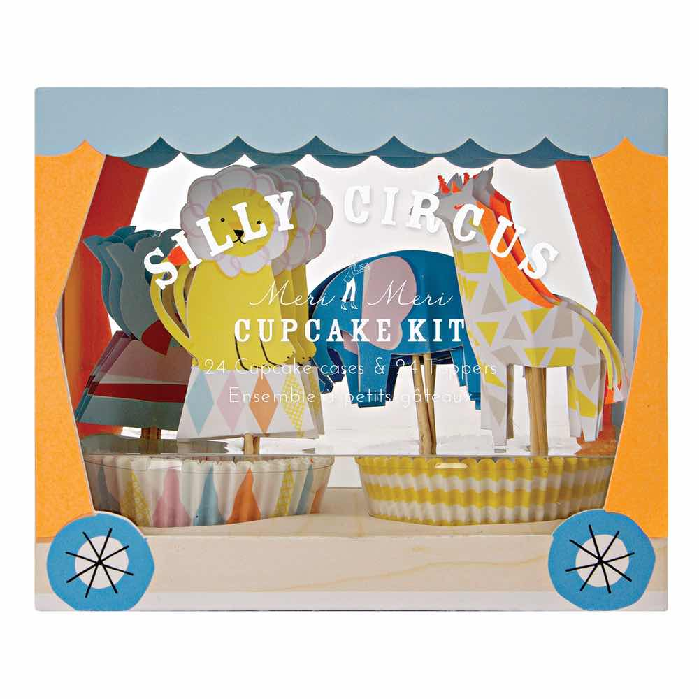 Kit Toppers Cupcakes Circo Bebe