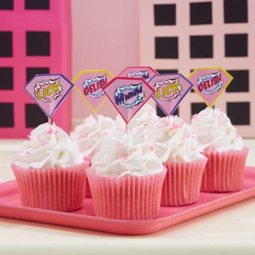 Toppers Superheroes Pink