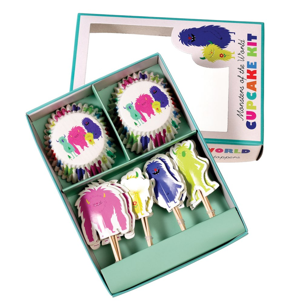 Kit Cupcake Monstruos de Colores