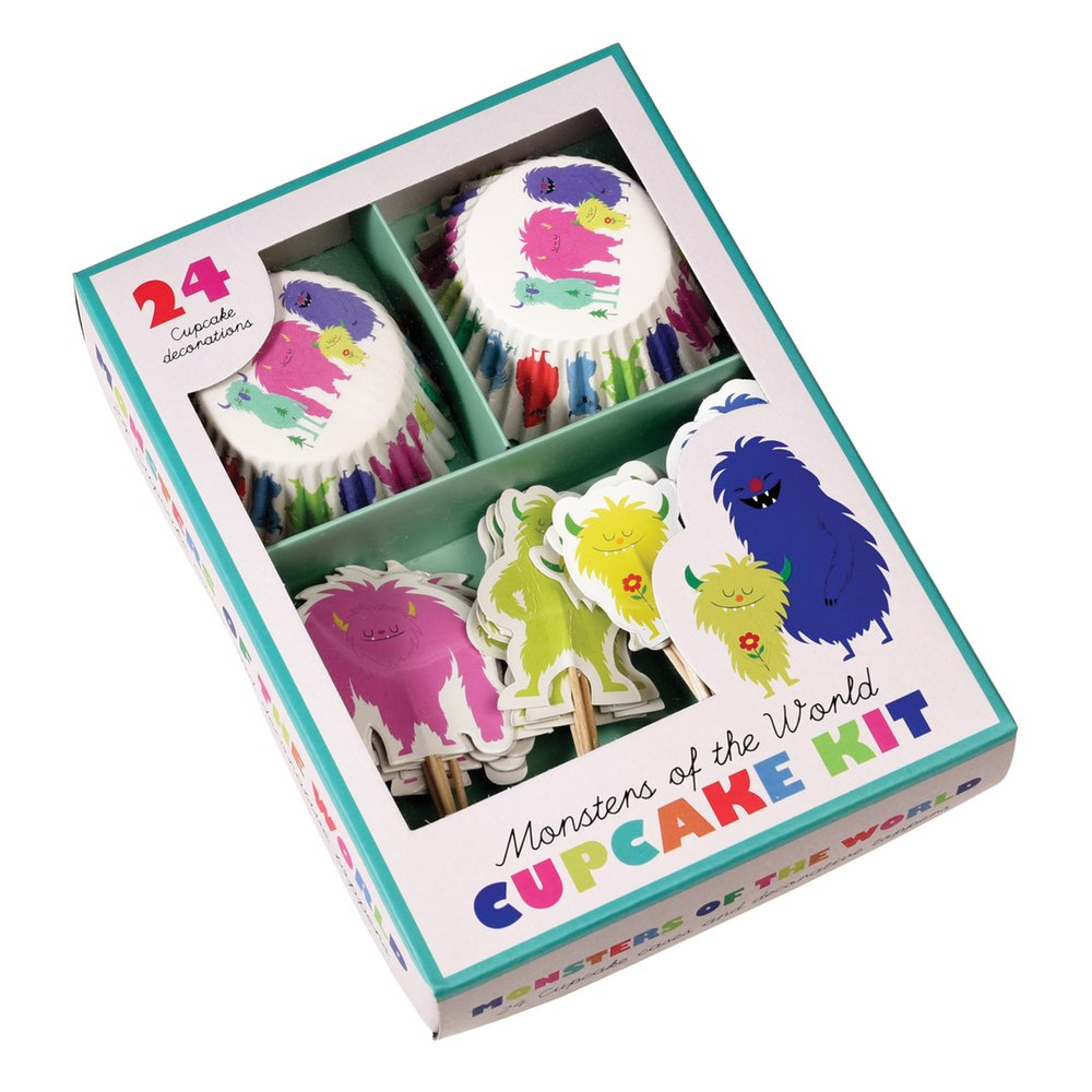Kit Cupcakes Monstruos de Colores