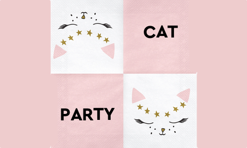 Banner Party Cat