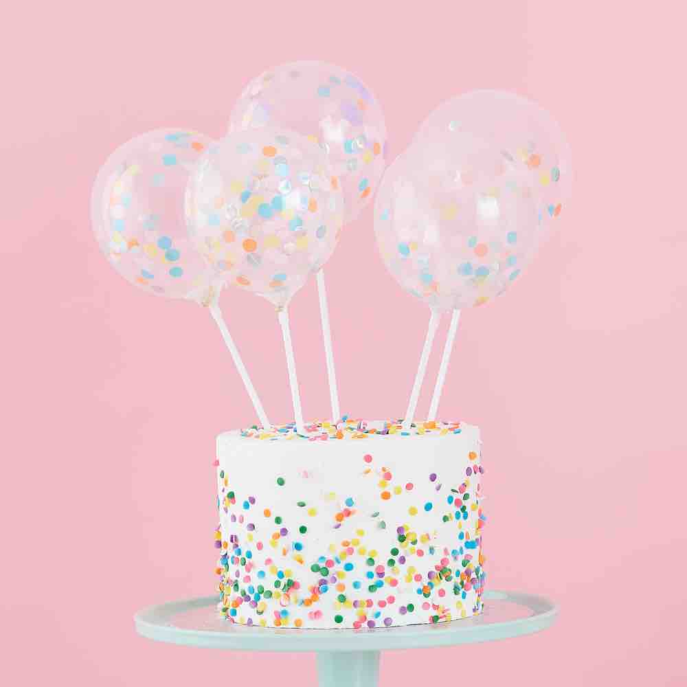 Toppers Globos Confeti