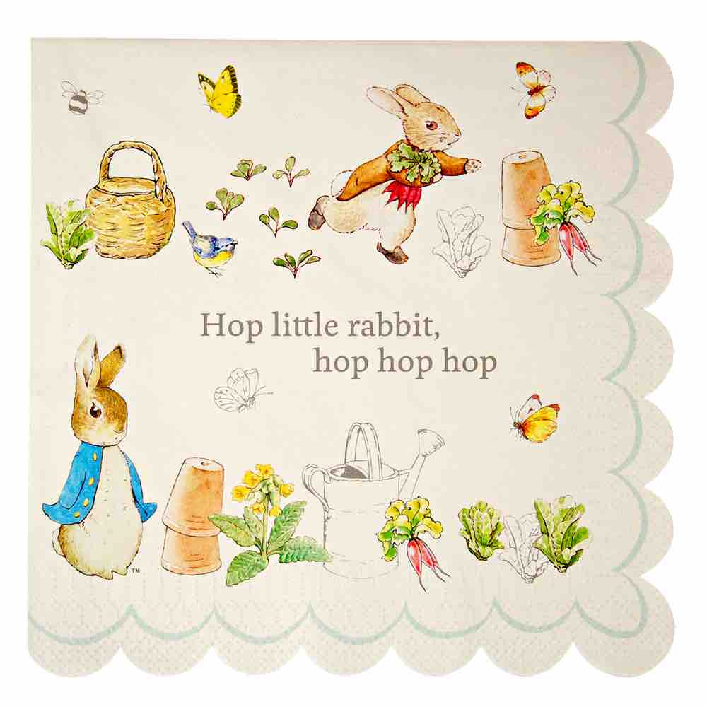 Servilletas Peter Rabbit